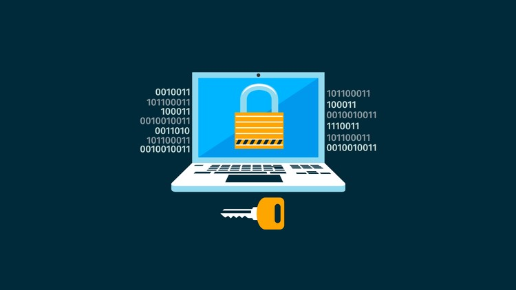 computer security with lock and key